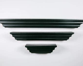 "Floating Wall Shelf – Layered Set (3"" Deep) – Floating Shelf – Lengths 8"", 16"", 22"""