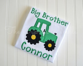 Tractor Shirt, Tractor Big Brother, Farm Birthday, Tractor Birthday, Tractor Sibling, Sibling Shirt, Tractor Party, Big Brother Shirt