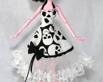 Bustier for Monster High, glow in the dark fabric dress