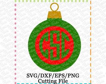 EXCLUSIVE SVG Ornament Monogram Cutting File, ornament cut file, ornament svg, Christmas Ornament svg, Christmas svg, Christmas cutting file