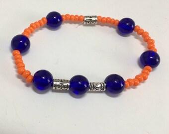 Denver Broncos fun wristlet, Blue and Orange
