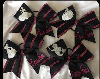 Princess #SquadGoals Set of 4 Bows Customized