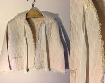 Quilted Vintage Bed Jacket 1950s