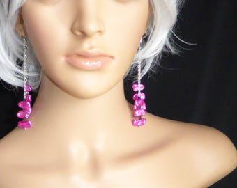 Posh Punk Pink Pearl Earrings