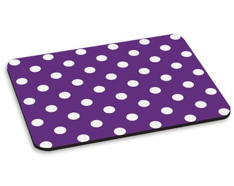 Polka Dot Purple Pattern PC Computer Mouse Mat Pad