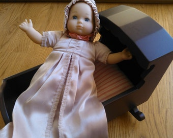 American Girl Baby Polly with Cradle ...Felicity's Baby Sister...Very Hard to Find in This Condition...Excellent Vintage Condition...Retired