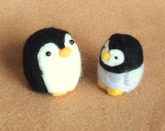 Little Penguin Pair - needle felted