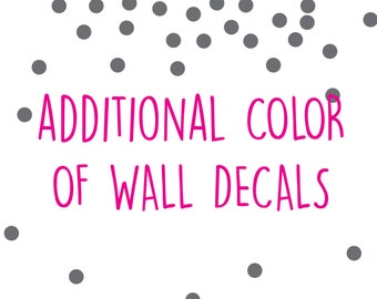 Additional color of any pattern wall decal