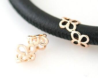 LM1818R ~ Gold Tone Clover Charm for Unending Bracelets