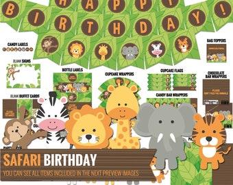 Safari birthday decorations Etsy