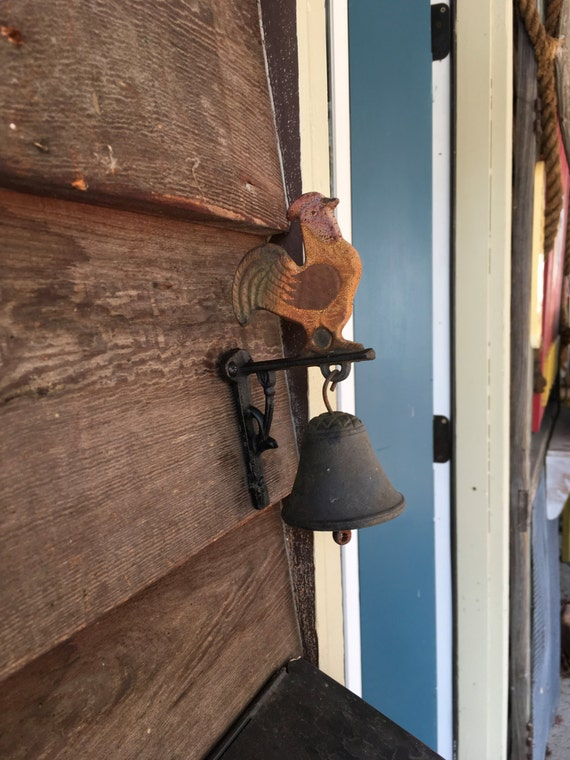Vintage Rustic Wall Mount Cast Iron Rooster Farmhouse Dinner
