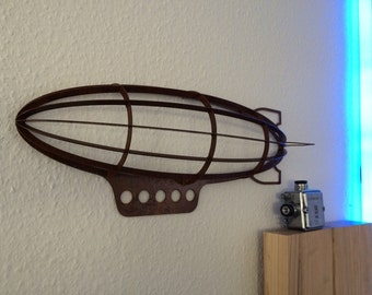 Airship Zeppelin steampunk design decoration