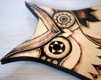 Owl Wall Decor, pyrography, wood burning, Owl Wall hanging, pyrography owl art, owl gift, woodland decor, Owl decor, woodland decor, forest