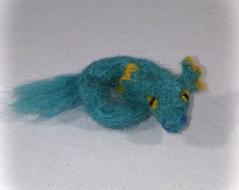 Drexore the Little Needle Felted Water Dragon