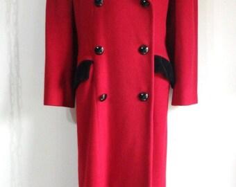 Christian Dior, Vintage Christian Dior, Dior, Dior Coat, Christian Dior Coat, Red Coat, Vintage Coat,