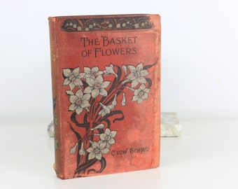 Antique Book (Red) The Basket of Fowers Christoph Von Schmid