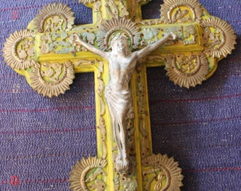 ON SALE!!  OOAK Vintage Milagro Crucifix