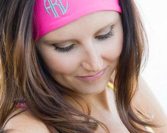 ON SALE Headbands*Workouts*5K*Marathon*Gym*Monogrammed Top*Fitness*Beach*Cruises*