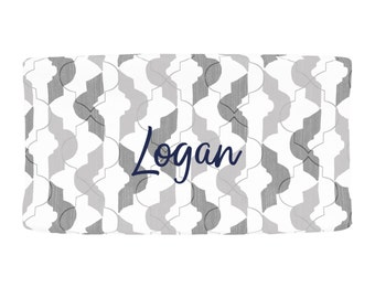Personalized Changing Pad Cover by Carousel Designs.  Design your own changing pad cover and baby crib bedding.  Made in the USA.