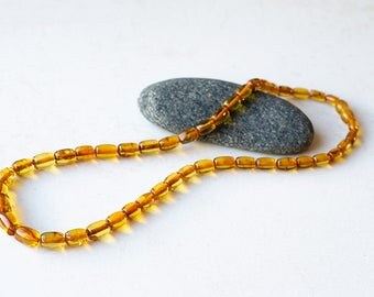 Genuine Baltic Amber/ Amber necklace/ handmade/ carved amber/ quality