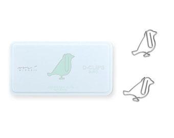 Midori D-Clips Bird Paper Clips
