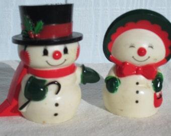 Christmas Snow People Salt & Pepper Shakers