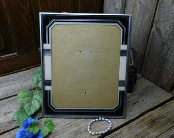 Beautiful Antique Art Nouveau Easel Back Picture Frame