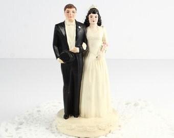 Vintage Cake Topper Bride and Groom Coast Novelty