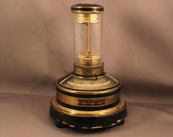 Rare Original Lufft 50s German Weather Station Barometer Hygrometer Thermometer Compass Mid Century Modern Art Deco Nautical Maritime Design