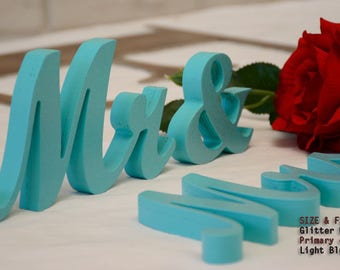 Light Blue Wedding , Navy Blue Sign, Navy Blue Centerpieces, Navy Blue, MR & MRS Navy Blue Glitter