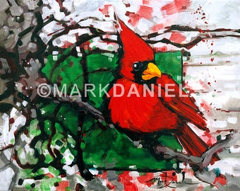 """Red Dandy 16""""x20"""" giclee print on canvas"""