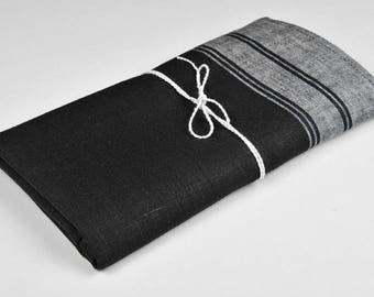 Black linen kitchen towel, black linen towel, pure linen towel, rustic linen towel, black flax towel, eco friendly towel, flax kitchen towel