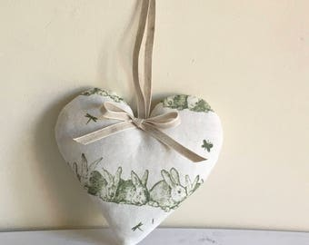 Lavender Heart in HIP HOP  Linen from Peony & Sage in Basil