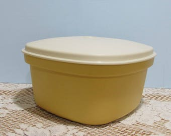 Tupperware Harvest Gold Steamer and Strainer ~ Mid-Century ~ Tupperware Multi-Server ~ Retro Kitchen