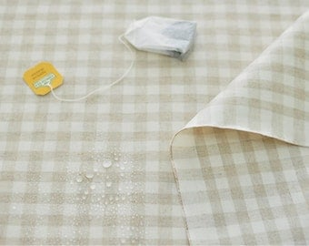 Laminated Linen Fabric 1 cm Plaid By The Yard