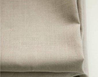 Pure Linen Fabric Grey By The Yard