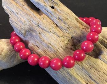 Coral jade bracelet