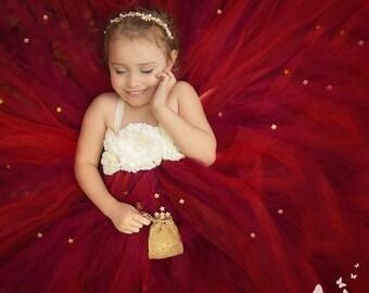 Cranberry Flower Girl Dress, Cranberry Tutu Dress, Wine Flower Girl Dress, Wine Tutu Dress, Red Flower Girl Dress, Red Tutu Dress,