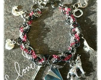 Lunar Chronicles inspired Charm Bracelet