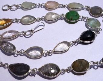 23Inch/121CtsMulti StoneTrendy jewelry Necklace /Funky jewelry Necklace@DSC06906