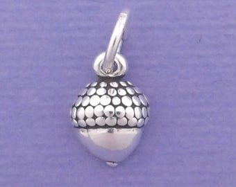 ACORN Charm .925 Sterling Silver, MINIATURE Small - elp20005