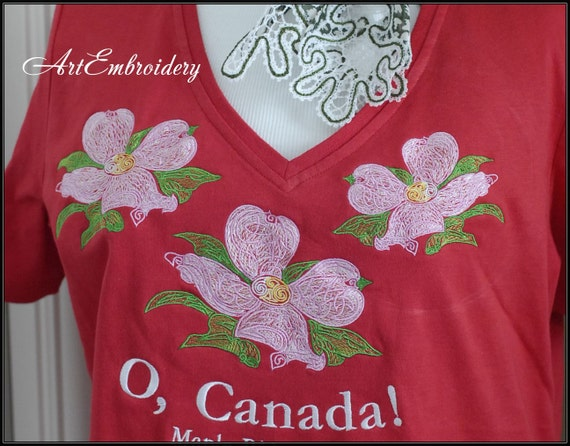 Dogwood flowers machine embroidery designs set in