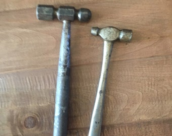 Two All Metal Ball Peen Hammers