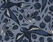 SS Bluebird by Cotton and Steel - Fat Quarter- Sailor Ink in Blue