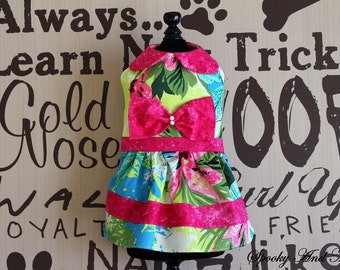Little dress green - and pink and green dress Pinke * ready to ship - Ready to ship *.