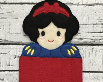 Apple Princess Crayon Holder * Party Favor * Birthday Gift * Girl Gift