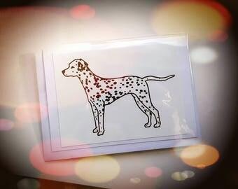 Dalmatian Drawing Printed Cards