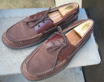 Nunn Bush Used Brown Leather Top-Siders Boat Shoes 10.5