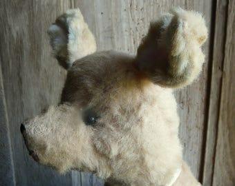 vintage antique stuffed kangaroo toy