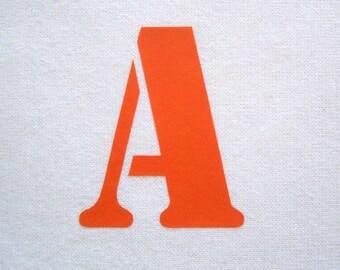 Iron-on stencil letter 5 cm